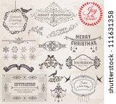 vector set  christmas...   Shutterstock .eps vector #111631358