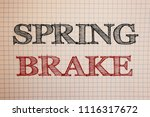 text sign showing spring brake. ... | Shutterstock . vector #1116317672