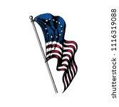 usa flag illustration in... | Shutterstock .eps vector #1116319088