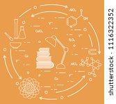 scientific  education elements. ... | Shutterstock .eps vector #1116322352