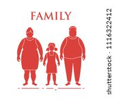 family. mom  dad and daughter.... | Shutterstock .eps vector #1116322412