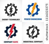 energy logo. lightning bolt in... | Shutterstock .eps vector #1116323375