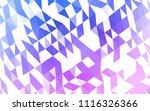light pink  blue vector low...   Shutterstock .eps vector #1116326366