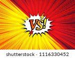 comic duel horizontal concept... | Shutterstock .eps vector #1116330452