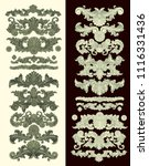 ornate decorative elements.... | Shutterstock .eps vector #1116331436