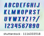distorted glitch font. vector... | Shutterstock .eps vector #1116333518