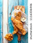 traditional battered fried fish ... | Shutterstock . vector #1116336446