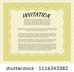 yellow retro vintage invitation.... | Shutterstock .eps vector #1116343382