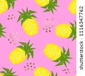 seamless pineapple geometric...   Shutterstock .eps vector #1116347762