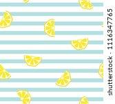 seamless striped lemon... | Shutterstock .eps vector #1116347765