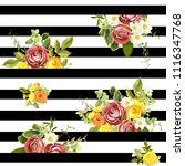 seamless striped style floral... | Shutterstock .eps vector #1116347768
