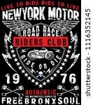 motorcycle label t shirt design ... | Shutterstock . vector #1116352145