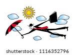 a cartoon man in a black suit...   Shutterstock .eps vector #1116352796