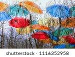 Colourful Umbrellas And Rainy...