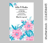 flowers card invitation | Shutterstock .eps vector #1116356645