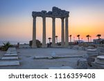 the temple of apollo in side at ... | Shutterstock . vector #1116359408