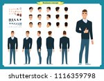 standing young businessman.... | Shutterstock .eps vector #1116359798