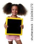 cute african american girl... | Shutterstock . vector #1116361172