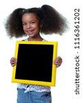 cute african american girl... | Shutterstock . vector #1116361202
