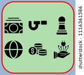 simple 6 icon set of business... | Shutterstock .eps vector #1116361586