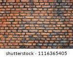 old grunge brick wall background | Shutterstock . vector #1116365405