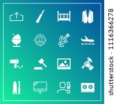 modern  simple vector icon set... | Shutterstock .eps vector #1116366278