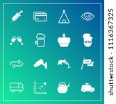 modern  simple vector icon set... | Shutterstock .eps vector #1116367325