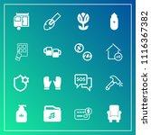 modern  simple vector icon set... | Shutterstock .eps vector #1116367382