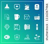 modern  simple vector icon set... | Shutterstock .eps vector #1116367466