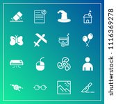 modern  simple vector icon set... | Shutterstock .eps vector #1116369278