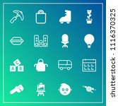 modern  simple vector icon set... | Shutterstock .eps vector #1116370325