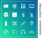 modern  simple vector icon set... | Shutterstock .eps vector #1116371462