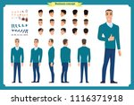 front  side  back view... | Shutterstock .eps vector #1116371918