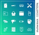 modern  simple vector icon set... | Shutterstock .eps vector #1116375596