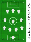 vector soccer field with the... | Shutterstock .eps vector #1116375926