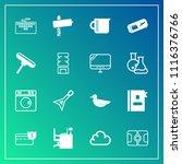 modern  simple vector icon set... | Shutterstock .eps vector #1116376766