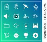 modern  simple vector icon set... | Shutterstock .eps vector #1116377396