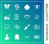 modern  simple vector icon set...   Shutterstock .eps vector #1116377408