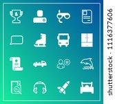 modern  simple vector icon set... | Shutterstock .eps vector #1116377606