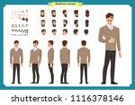 standing young businessman.... | Shutterstock .eps vector #1116378146