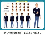 standing young businessman.... | Shutterstock .eps vector #1116378152