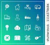 modern  simple vector icon set... | Shutterstock .eps vector #1116378686