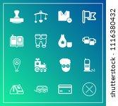 modern  simple vector icon set... | Shutterstock .eps vector #1116380432