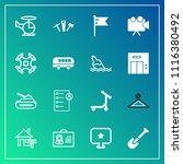 modern  simple vector icon set... | Shutterstock .eps vector #1116380492