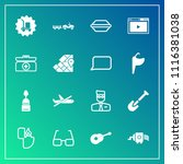 modern  simple vector icon set... | Shutterstock .eps vector #1116381038