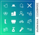 modern  simple vector icon set... | Shutterstock .eps vector #1116384302