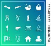 modern  simple vector icon set... | Shutterstock .eps vector #1116384332