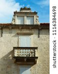 houses details in trogir ...   Shutterstock . vector #1116384698