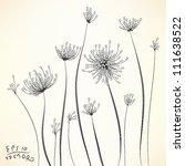 Stock vector floral elements for design eps vector background 111638522