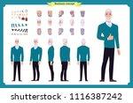 businessman. front  side  back... | Shutterstock .eps vector #1116387242